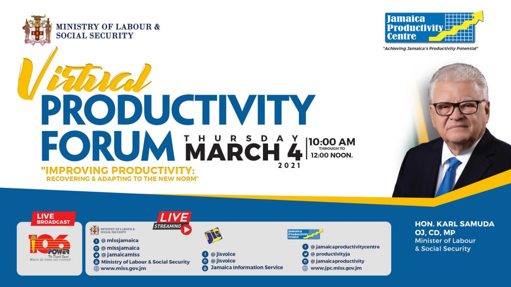 JPC Virtual Productivity Forum. Improving Productivity: Recovering & Adapting to the New Norm
